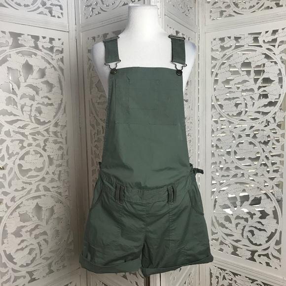 ea18a100dfbb Maternity Green Overall Romper Shorts Small